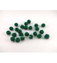 COTTON THREADED BEADS GREEN ONE PIECE